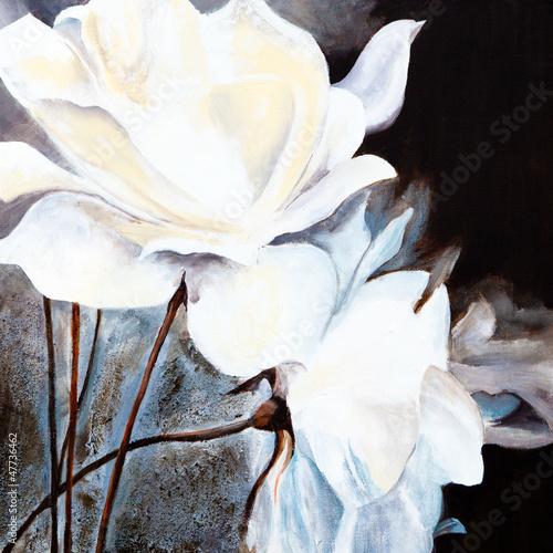 Ölbild: Weiße Rosen #47736462