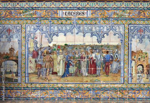 Cáceres, escena histórica, cerámica artística