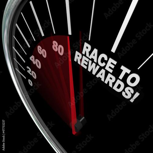 Fotografía  Race to Rewards Speedometer Customer Loyalty Points Program