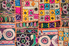 Indian Patchwork Carpet In Raj...
