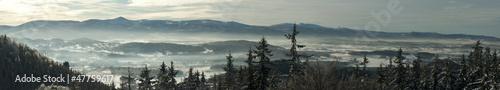 Fototapeta Panorama karkonoska zimą obraz