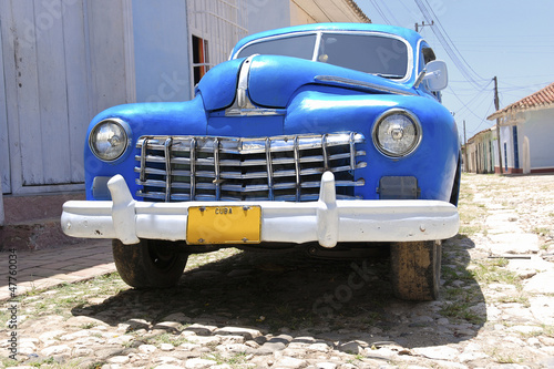 Foto op Canvas Cubaanse oldtimers old american road cruiser