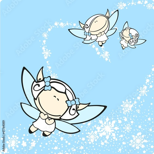 Photo sur Toile Ciel Snow fairies