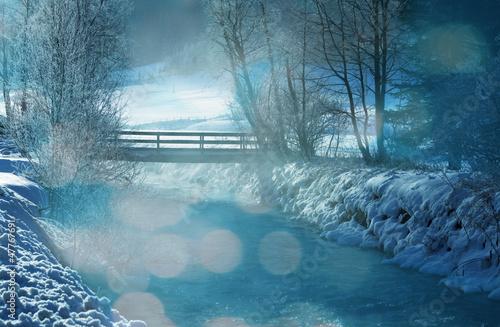 Foto op Plexiglas Groen blauw Winter