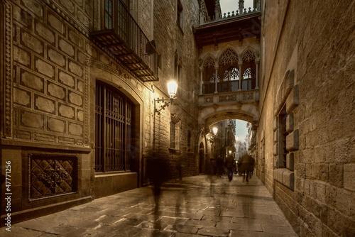 Bridge at Carrer del Bisbe  in Barri Gotic, Barcelona #47771256