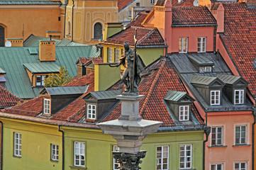 FototapetaThe old town at sunset. Warsaw, Poland