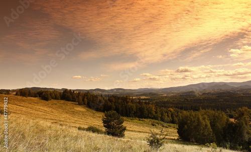 Sunset in Karkonosze mountains - 47779432