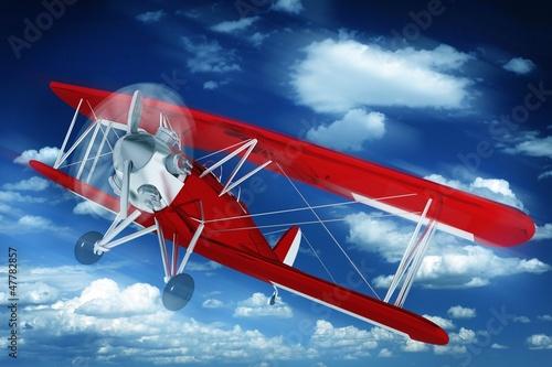 In de dag Vliegtuigen, ballon Biplane on the Sky