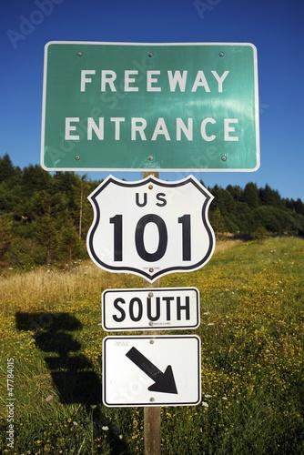 Highway 101 Entrance Wallpaper Mural