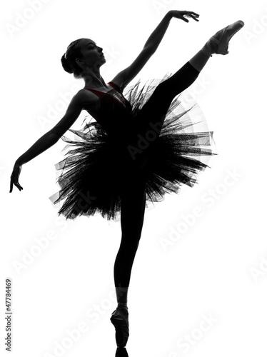 Fototapeta young woman ballerina ballet dancer dancing