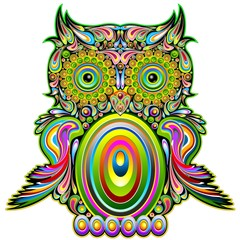 FototapetaOwl Psychedelic Pop Art Design-Gufo Psichedelico Decorativo