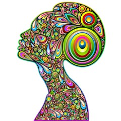 Woman Psychedelic Portrait Design-Donna Ritratto Psichedelico