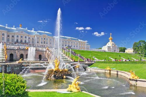 Fotografía  Grand cascade in Pertergof, Saint-Petersburg, Russia.