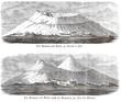 Historische Ansichten des Vesuv/ Vesuvio/ Vesuvius, Golf von Neapel, Kampanien, Italien, Europa