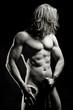 Muskularny sexowny mężczyzna