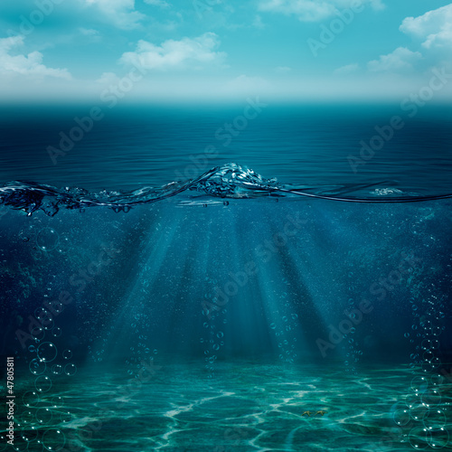 Poster Mer / Ocean Abstract underwater backgrounds for your design