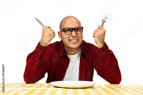Fotomural Man at the dinner table