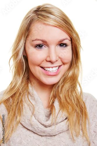 Blonde Junge Frau Mit Langen Haaren Buy This Stock Photo And
