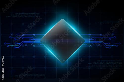 Fotografie, Obraz  Circuit background design, vector