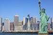 Manhattan Skyline and The Statue of Liberty, New York City