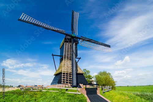 Dutch windmill. Netherlands