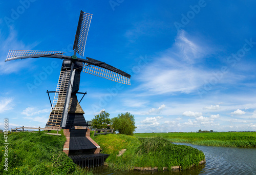 Poster Molens Dutch windmill. Netherlands