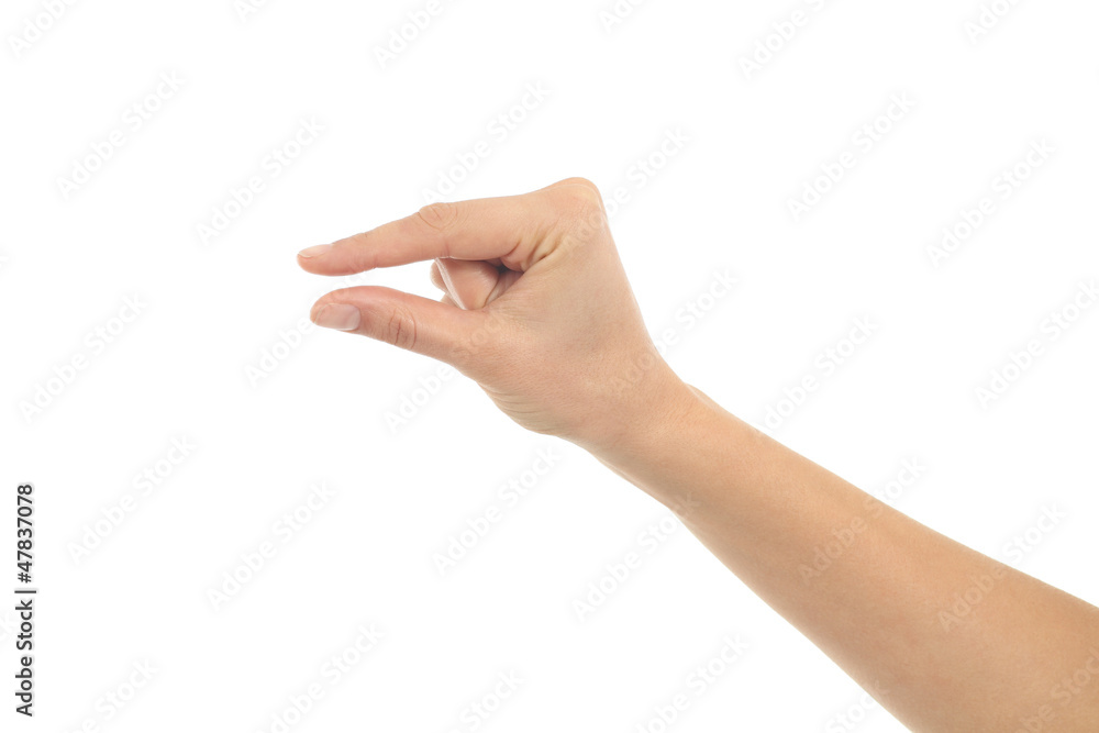 Fototapety, obrazy: Woman hand in little gesture