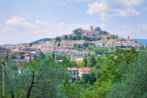 Panoramic view of Amelia. Umbria. Italy. Wallpaper Mural