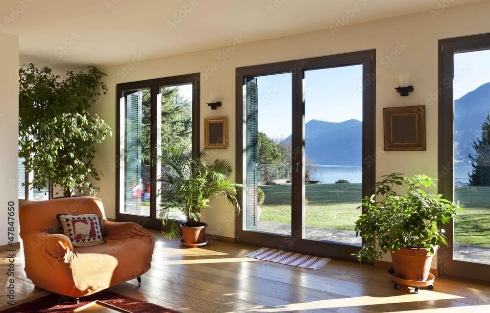 Obraz beautiful apartment, interior, living room fototapeta, plakat