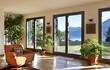 Leinwandbild Motiv beautiful apartment, interior, living room