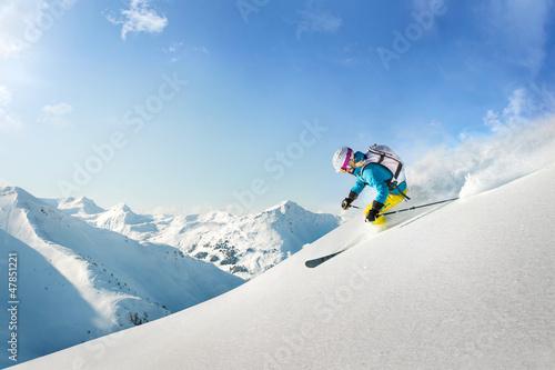 Fotografie, Obraz  Female freeride skier