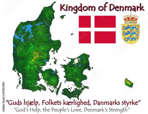 Denmark Europe national emblem map symbol motto – kaufen Sie ...