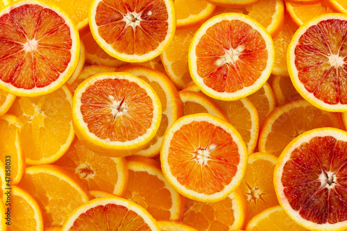 La pose en embrasure Tranches de fruits Orangen