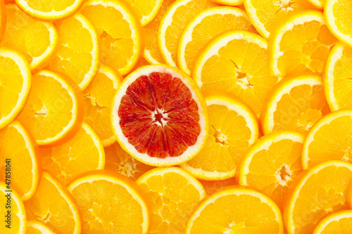 Cadres-photo bureau Tranches de fruits Orangen