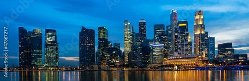 Foto op Aluminium Singapore Singapore skyline at night.