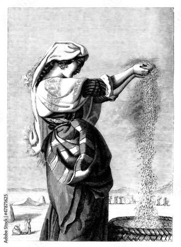 Peasant Beauty - Belle Vanneuse - 19th century Fototapeta