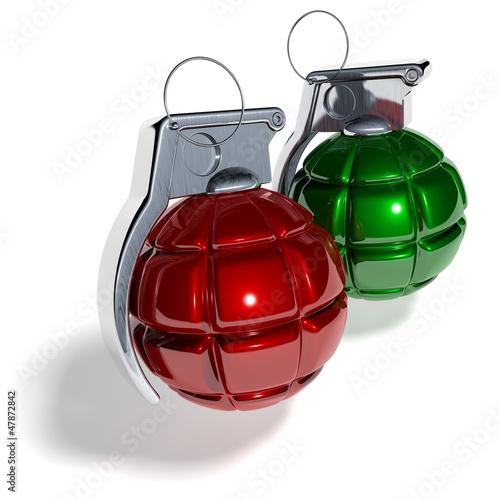 Weihnachtskugel Handgranate Bombe Buy This Stock Illustration And