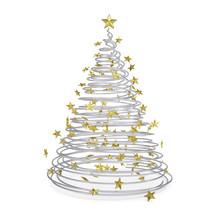 3D Christmas Tree Made Of Meta...