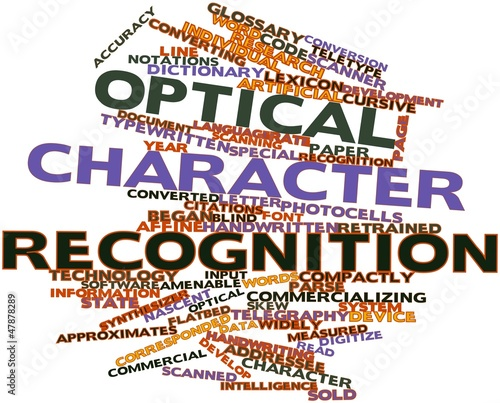Photo Word cloud for Optical character recognition