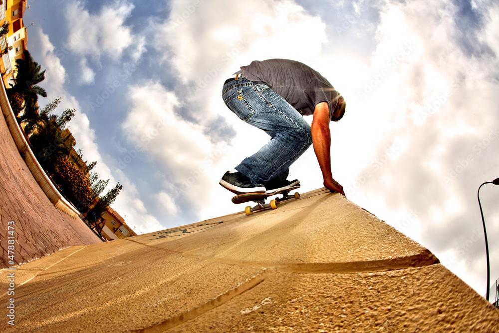 Photo  hdr skateboard