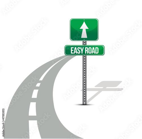 Fotografie, Obraz  Easy Street road