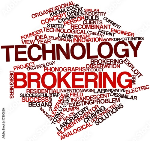 Photo Word cloud for Technology brokering