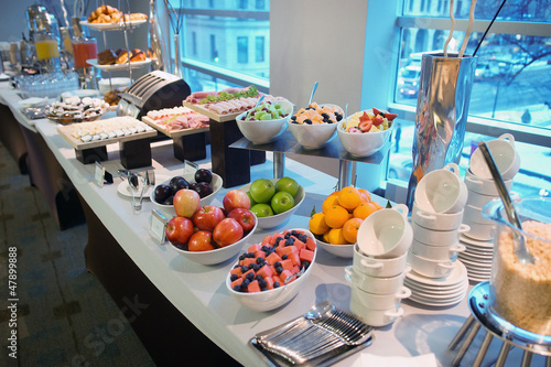 Fotografie, Obraz  Hotel buffet