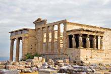 Erechtheum Temple Ruins At Acropolis