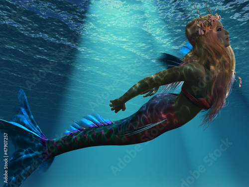 Deurstickers Zeemeermin Mermaid of the Sea