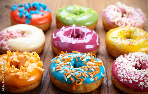 Photo  baked donuts