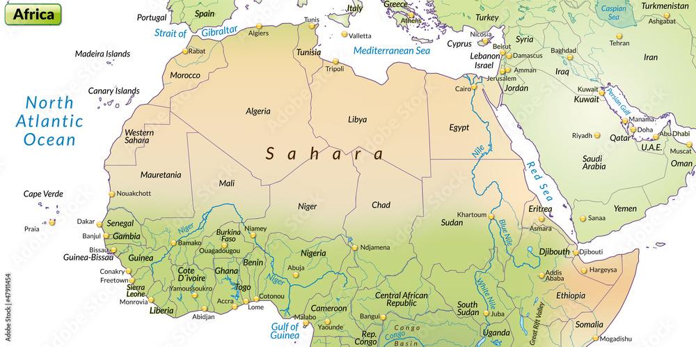 Gamesageddon Stock Bunte Landkarte Vom Norden Afrikas
