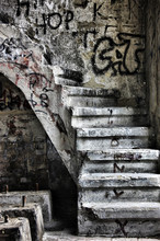Ran Down Staircase With Graffiti