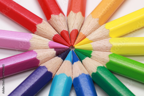 Naklejka na meble Kreis aus bunten Farbstiften
