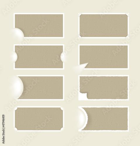 Fototapeta Old paper with corners obraz na płótnie